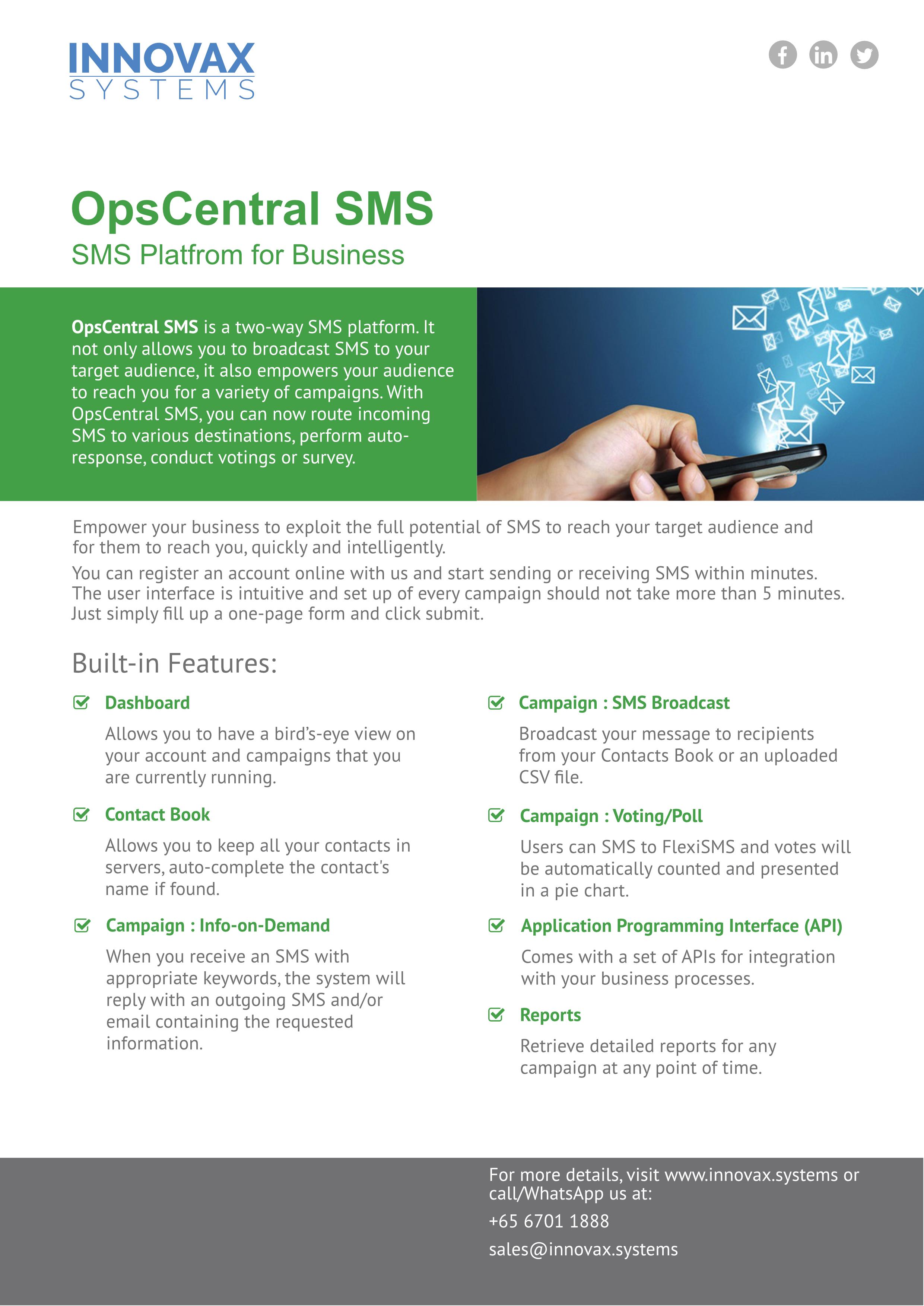 OpsCentral_SMS